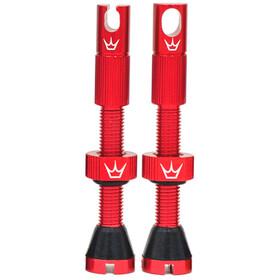 Peaty's X Chris King MK2 Tubeless Valves 60mm, rosso